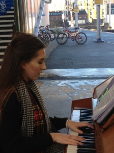Oxford Road station - you have to love a city with a piano on the platform!