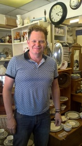 Our favourite prop shop manager at Collectible Bazaar