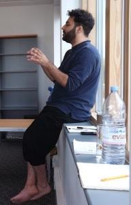 Assistant Choreographer Jon Oommen in full flow