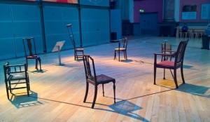 The chairs from The House of Bernarda Alba design, each one represents a specific character.