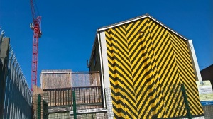 A week before the Manchester bomb, this random, bee striped wall in the Northern Quarter prompted me to photograph it and post it online with the comment 'I Love Mcr'.