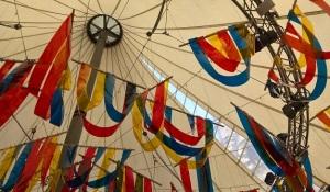 M.I.F Festival Square pavilion ceiling