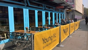 The Young Vic in the sunshine